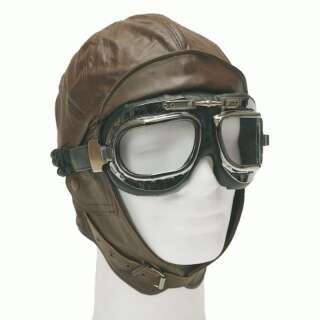 Шлем лётный английский WW1 (историческая копия), [108] Brown, Sturm Mil-Tec® Reenactment