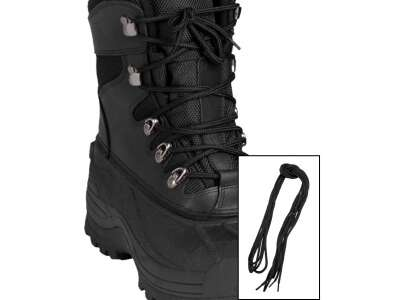 Шнурки черные, 140 см, Mil-Tec Sturm