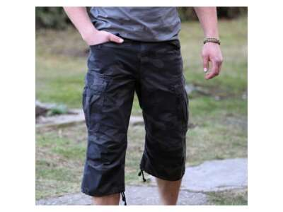 Шорты SURPLUS ENGINEER VINTAGE 3/4, [1345] Washed black camo, Surplus Raw Vintage®