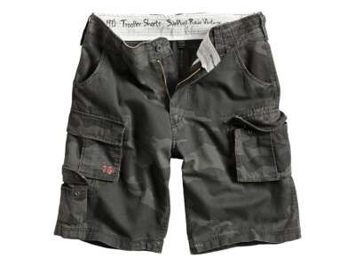 Шорты SURPLUS TROOPER SHORTS, [1345] Washed black camo, Surplus Raw Vintage®