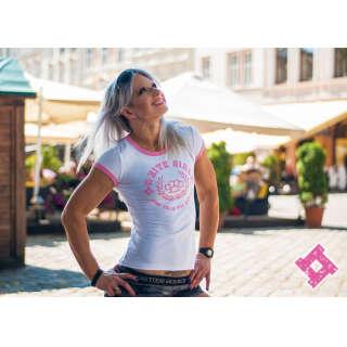SvaStone футболка женская White Girl розовая