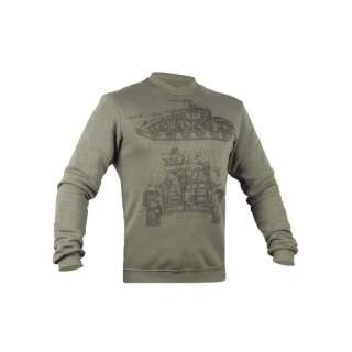 Свитшот зимний WS- Armored Force (Winter Sweatshirt Ukrainian Armored Forces), [1270] Olive Drab, P1G