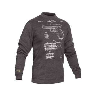 Свитшот зимний WS- GLOCK (Winter Sweatshirt Glock Pistol Legend) , [1223] Graphite, P1G