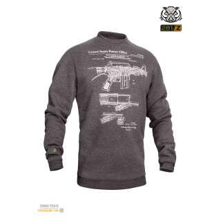 Свитшот зимний WS- M16/AR15 (Winter Sweatshirt M16/AR15 Rifle Legend), P1G®
