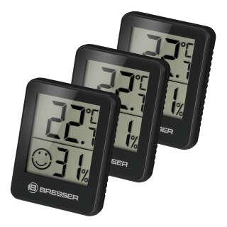 Термометр-гигрометр Bresser Temeo Hygro Indicator (3шт) Black (7000010CM3000), Bresser (Germany)