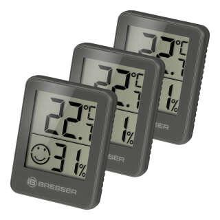 Термометр-гигрометр Bresser Temeo Hygro Indicator (3шт) Grey (7000010QT5000), Bresser (Germany)