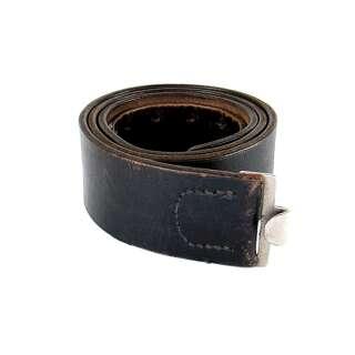 WH кожаный ремень 45 мм, б/у, Black, noname