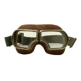 WWII мотоциклетные очки, Black, noname