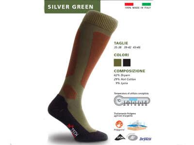 X Tech носки Silver олива