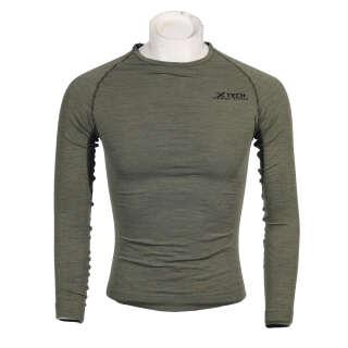 X Tech рубашка Merino олива
