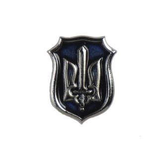 Значок ОУН синій/срібло