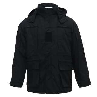 Куртка тактична з врізними кишенями Ріп-Стоп Black, Україна